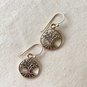 Jewelry - Sterling Silver Tree of life earrings